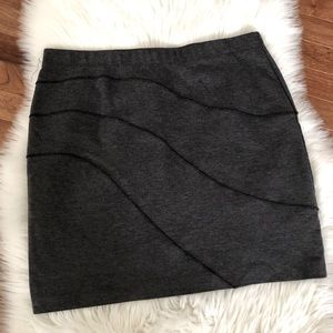 Vera Wang Gray Pencil Skirt Large